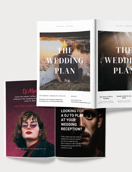 Sample Wedding Plan Magazine