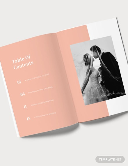 Wedding Plan Magazine Template