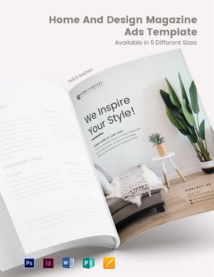 Home And Design Magazine Ads