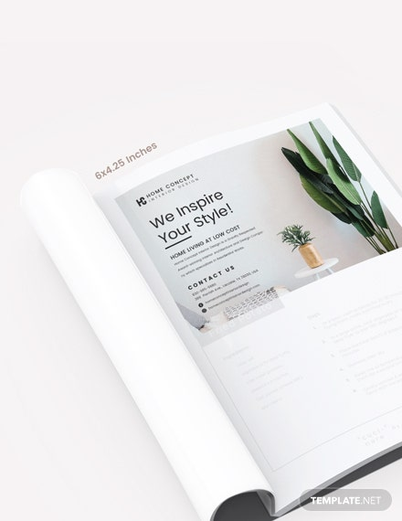 Home And Design Magazine Ads Template