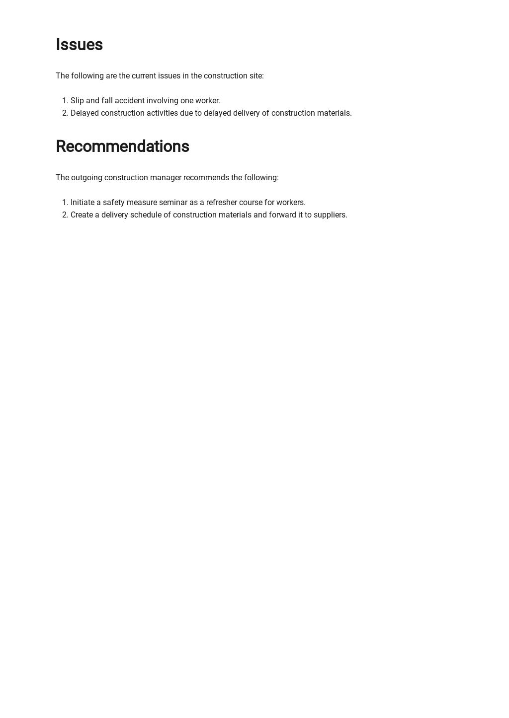 Free Sample Handover Report Template 2.jpe