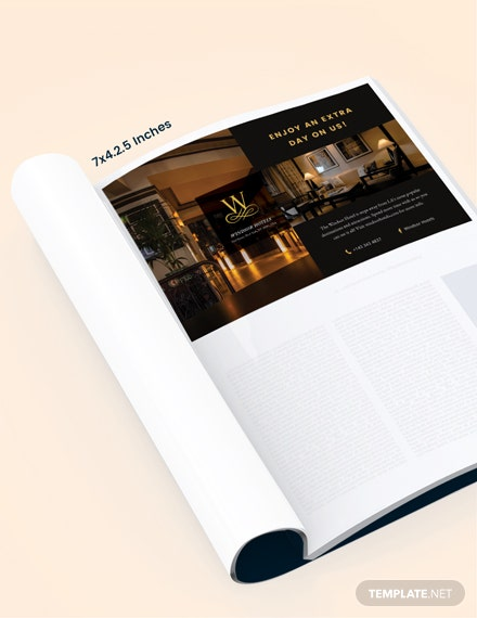 Hotel Magazine Ads Template