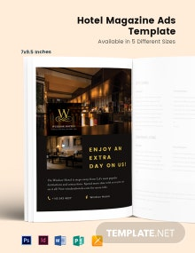 Free Hotel Magazine Ads Template