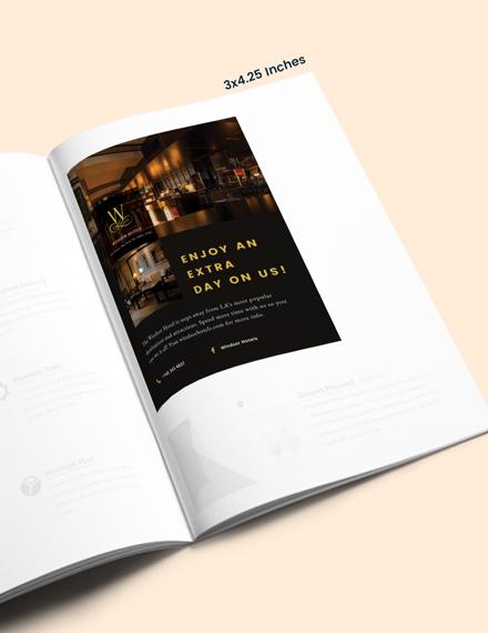 Simple Hotel Magazine Ads