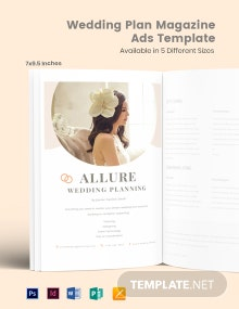 Free Wedding Plan Magazine Ads Template