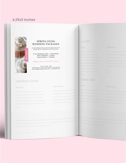 Simple Wedding Program Magazine Ads