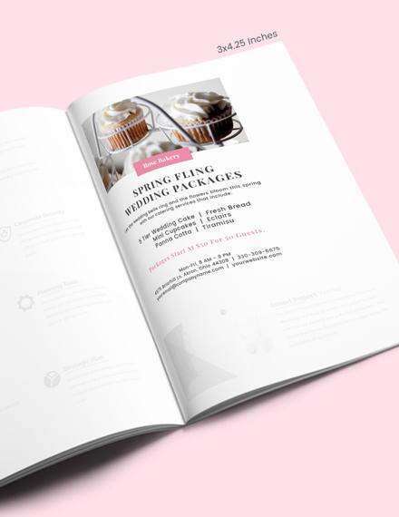 Wedding Program Magazine Ads Template