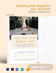 Free Wedding Sale Magazine Ads Template