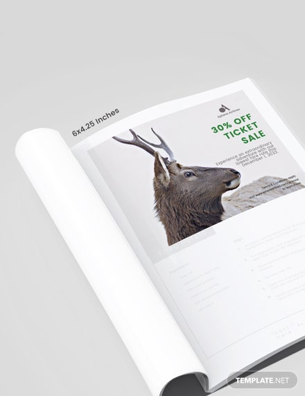 Wild Life Magazine Ads Template