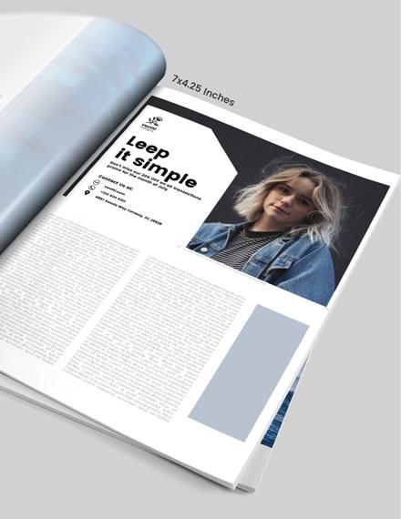 Sample Womens Fashion Magazine Ads