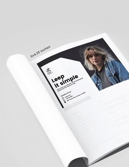 Womens Fashion Magazine Ads Template