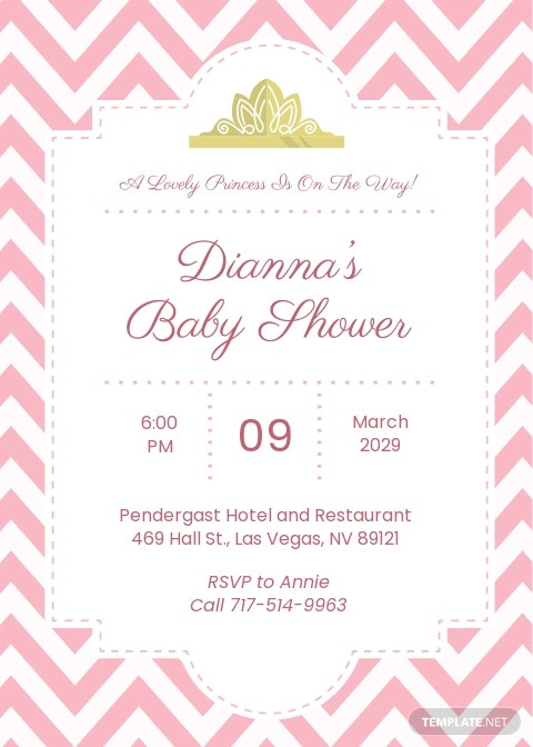 Royal Princess Baby Shower Invitation Template