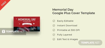 Memorial Day Google Plus Cover Template