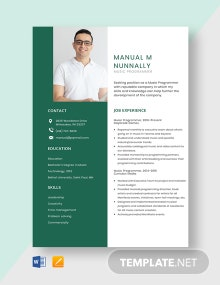 Free Music Programmer Resume Template