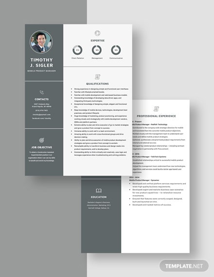 Mobile Product Manager Resume Download