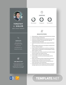Mobile Product Manager Resume Template