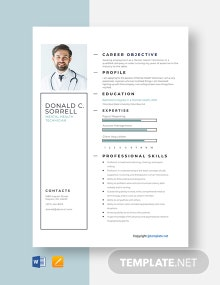 Free Mental Health Technician Resume Template