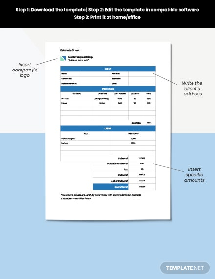Construction Renovation Estimate download