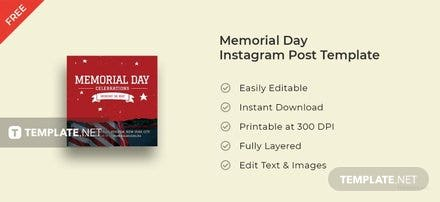 Memorial Day Instagram Post Template