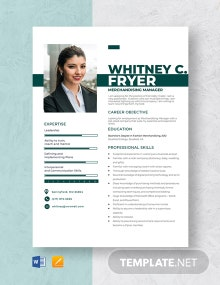 Merchandising Manager Resume Template