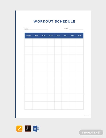 free simple workout schedule template 440x570 1