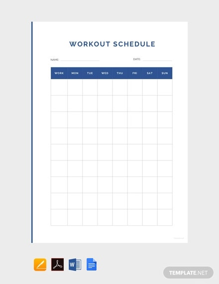 Free Simple Workout Schedule Template