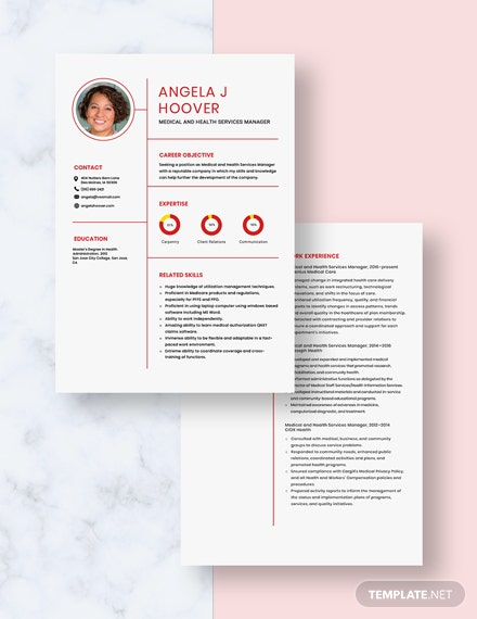 Medical and Health Services Manager Resume Download