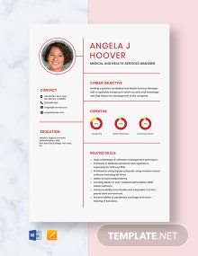 Medical and Health Services Manager Resume Template