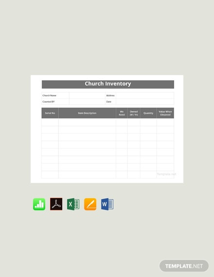 Free Church Inventory Template