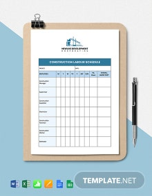 Construction Labour Schedule Template