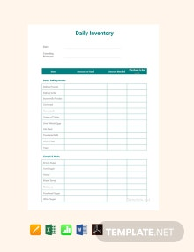Free Daily Inventory Template