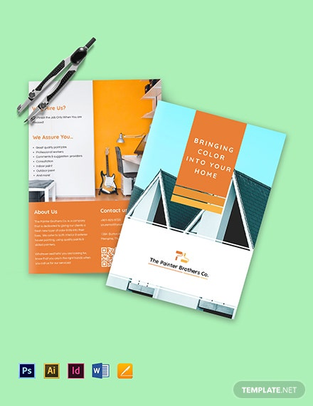 House Painting Contractor Brochure Bifold template