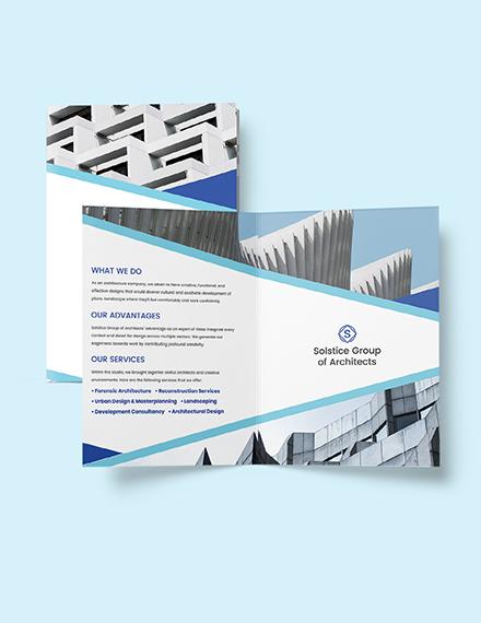 Creative Architecture Brochure Format