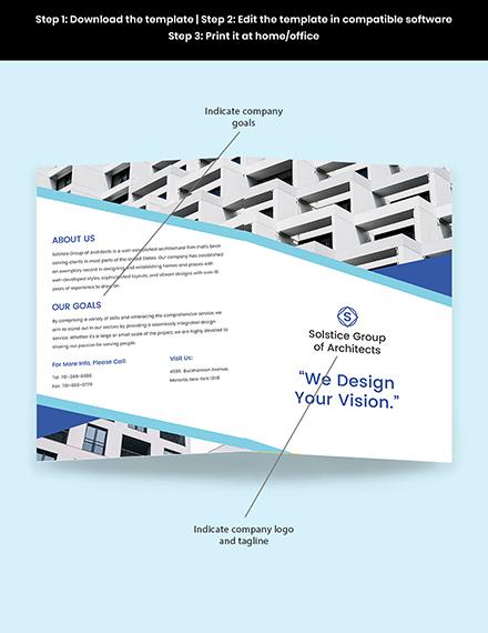 Creative Architecture Brochure Sample