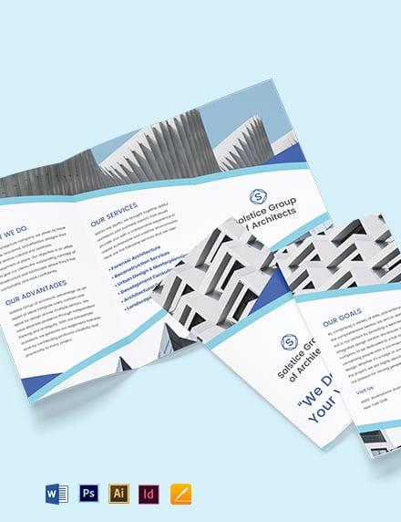 Creative Architecture Bi-Fold Brochure Template