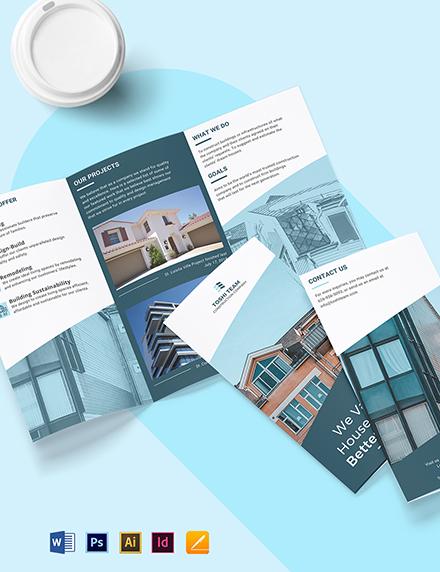 Industrial & Commercial Bi-Fold Brochure Template