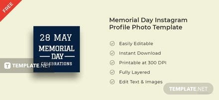 Memorial Day Instagram Profile Photo Template