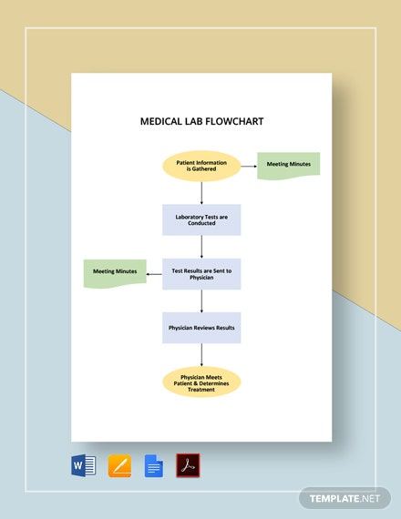Medical Lab Flowchart Template