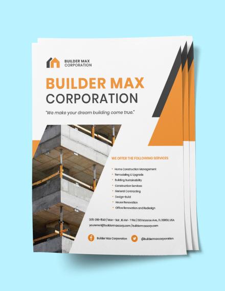 Home Builders  Construction flyer Sample