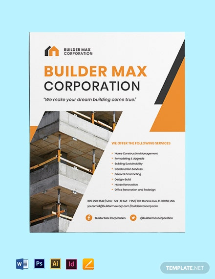 Home Builders & Construction Flyer Template