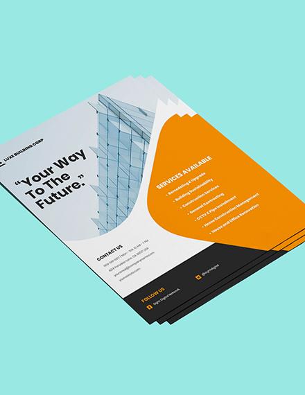 Contractor flyer template Format