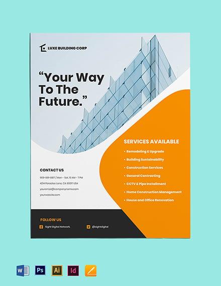 Contractor flyer template