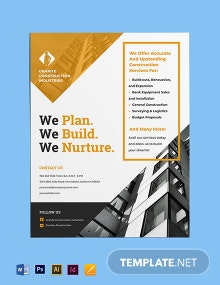 Construction & Renovation Flyer Template