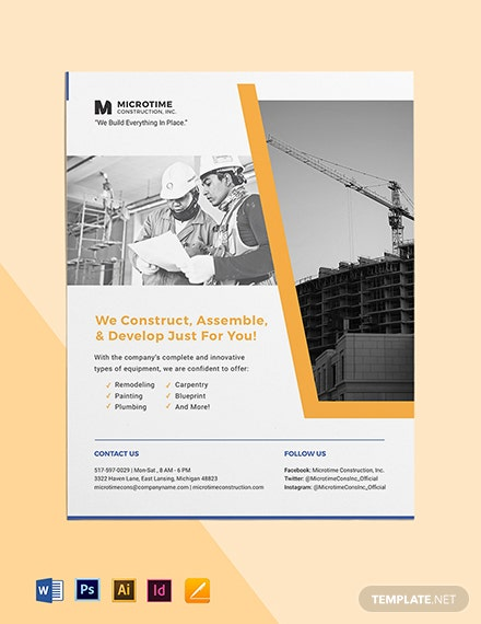 Construction Services Flyer Template