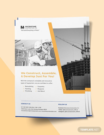 Sample Construction Services flyer