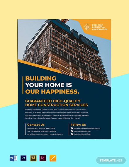 House Construction Flyer Template