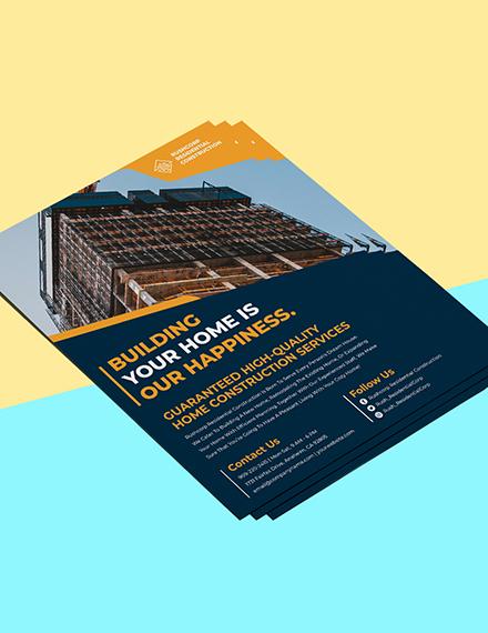 House Construction flyer Sample