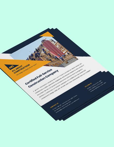 General Construction flyer Format