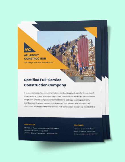 General Construction flyer Sample