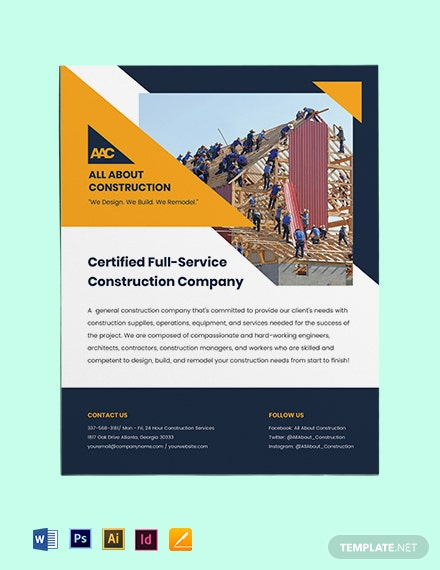 General Construction Flyer Template